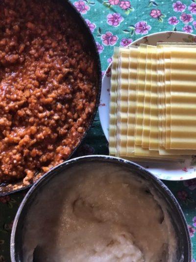 Ingredientes da lasanha à bolonhesa vegana - Foto: Patrícia Varela