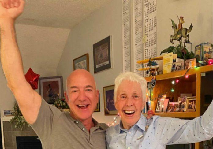 Wally Funk foi convidada pelo bilionário da Amazon, Jeff Bezos - Foto: reprodução