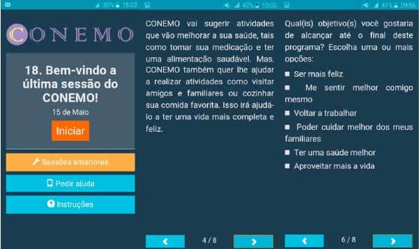 Tela do app Conemo - Foto: divulgação