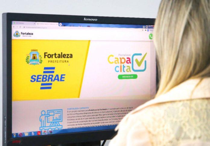 O programa Fortaleza Capacita oferece cerca de 900 vagas para empreendedores locais- Foto: divulgação
