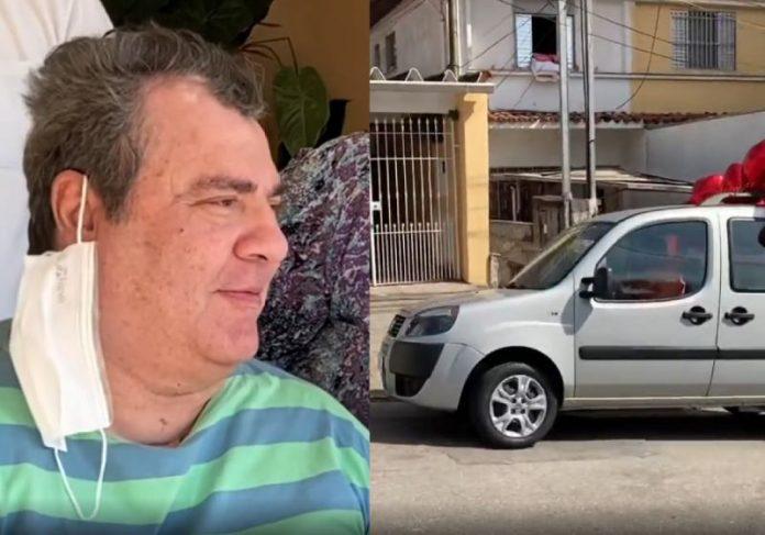 Gerson Brenner andou pela ª vez no carro novo - Fotos: reprodução / Instagram
