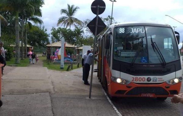 O ônibus adaptado que atende a região - Foto: Reprodução/BNT-PG