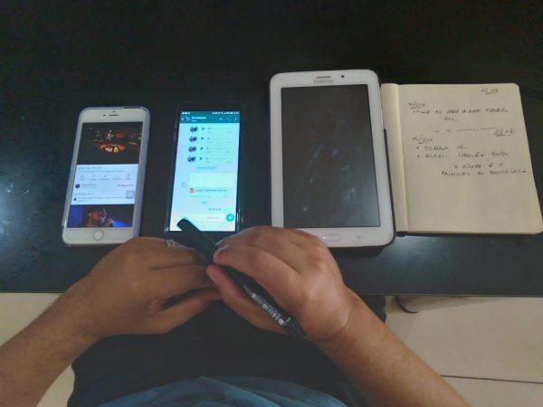 Áudios são gravados com celular e tablet - Foto: arquivo pessoal