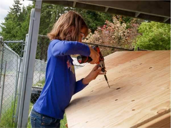Processo de construção das casas populares da Hailey - Foto: reprodução Facebook Hailey's Harvest