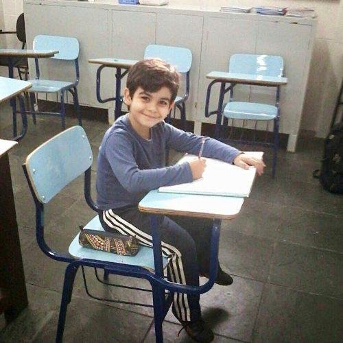 Caio na escola - Foto: arquivo pessoal