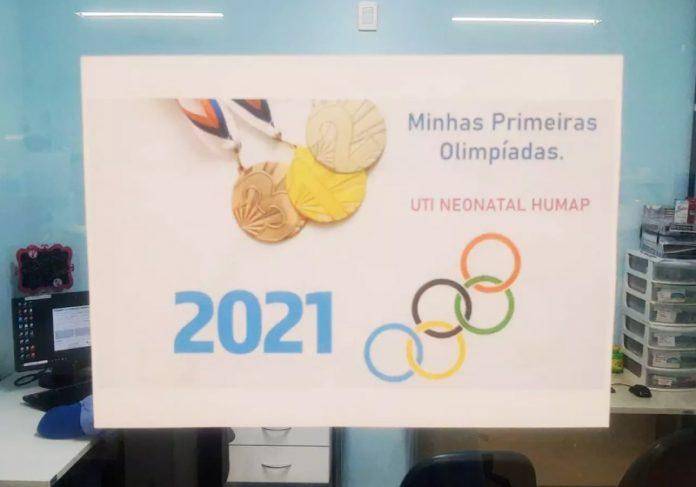Bebês participam das Olimpíadas da UTI Neonatal - Foto: reprodução