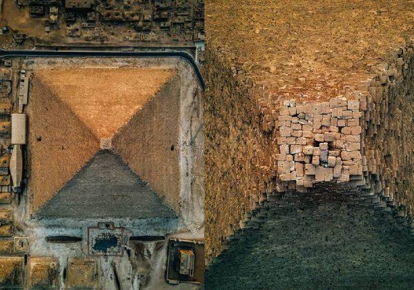 As imagens do pico da pirâmide feitas por drone - Foto: Alexander Ladanivskyy