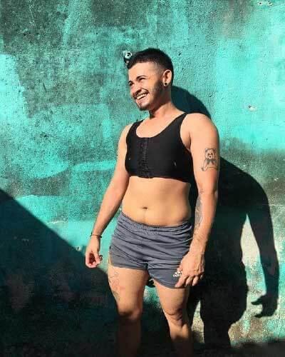Hugo sonha com cirurgia de mastectomia - Foto: arquivo pessoal