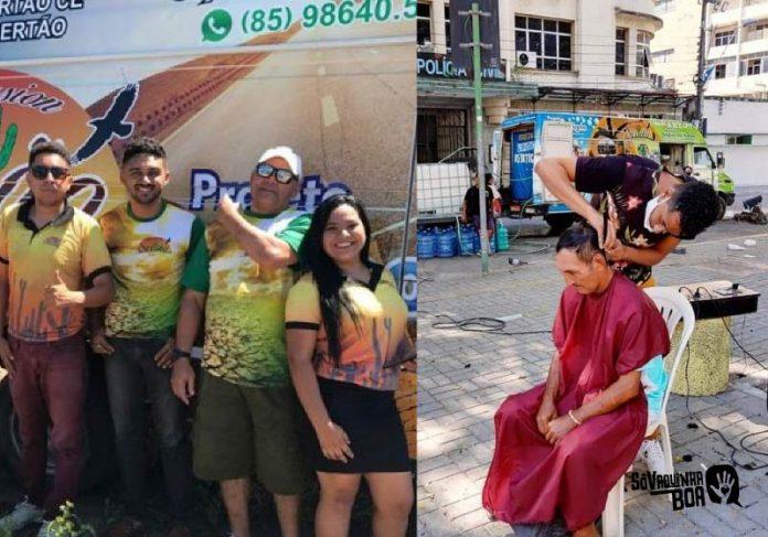 Projeto Banho Digno ajuda pessoas em situação de rua em Fortaleza - Foto: divulgação