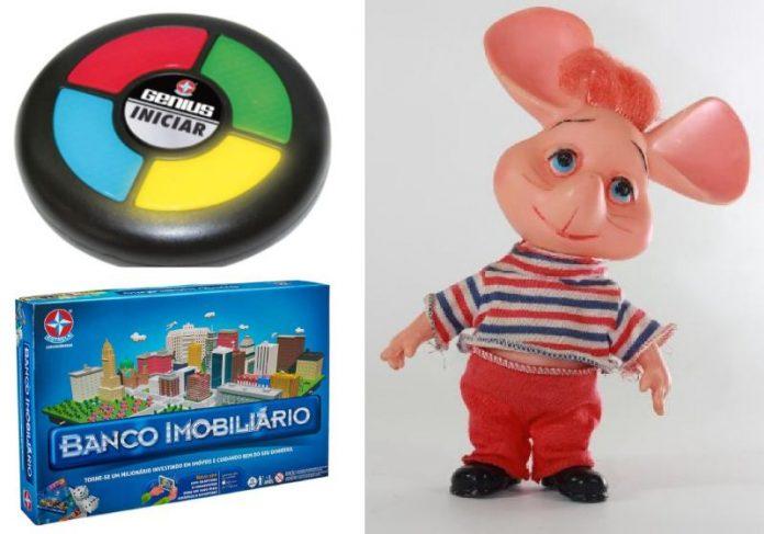 Genius, Banco Imobiliário e Topo Gigio estão entre os brinquedos clássicos que a Estrela está relançando - Fotos: divulgação