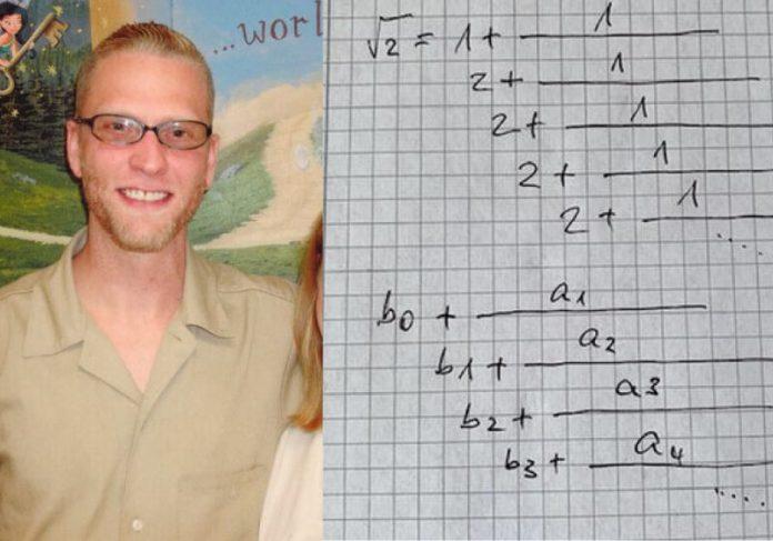 Detento aprendeu sozinho os fundamentos da matemática e resolveu problema antigo - Foto: arquivo pessoal
