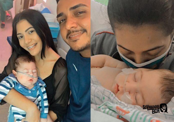Noah, um bebe internado desde que nasceu. A família precisa de um quarto adaptado para levá-lo para casa - Fotos: arquivo pessoal