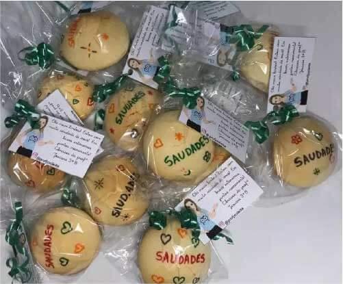 Biscoitos com mensagens de incentivo - Foto: arquivo pessoal