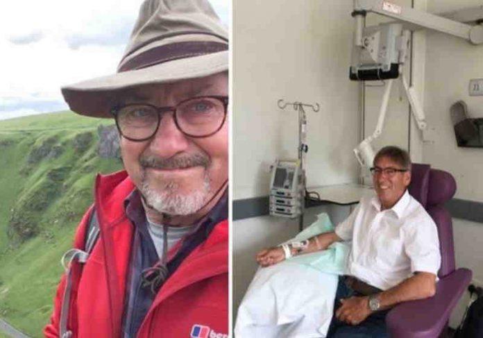 Barry Ambrose, 77, de Bury St Edmunds agora está livre do câncer depois de participar de um teste de medicação de imunoterapia da Fundação Royal Marsden NHS - Foto: família Ambrose