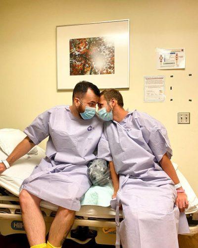 Reid e Rafael antes da cirurgia - Foto: arquivo pessoal