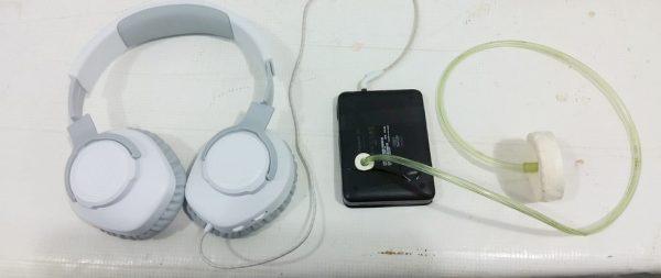 Estetoscópio com fones de ouvido externo - Foto: arquivo pessoal