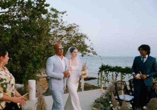 A filha de Paul Walker e o padrinho V. Diesel no altar Foto: Instagram