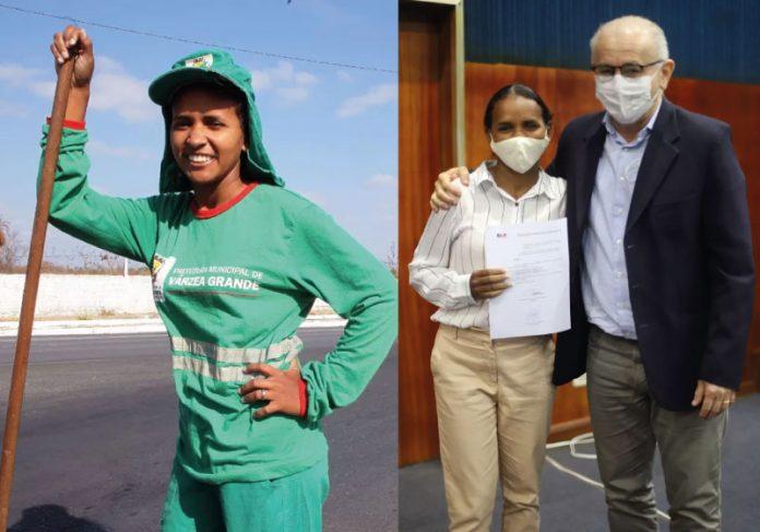 A ex-gari Ketly pedalava 10k todos os dias até a faculdade. Hoje, comemora o ingresso na Comissão dos Direitos Humanos da OAB-MT - Foto: arquivo pessoal