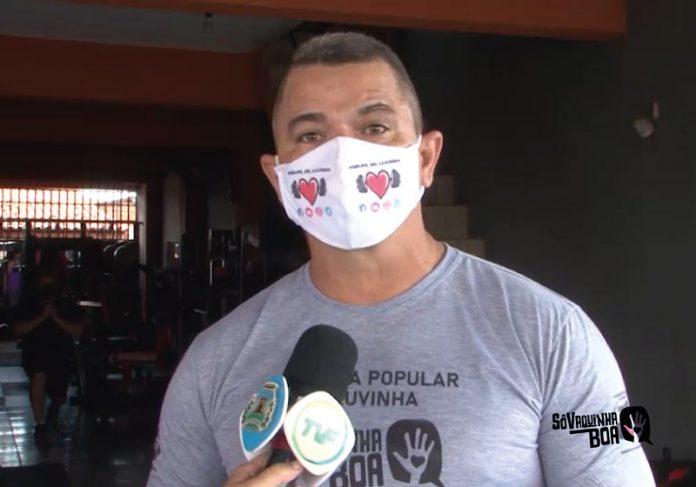 Marcos Luvinha contou no Jornal da Câmara, na TV Fortaleza que a academia popular será para pessoas carentes malharem - Foto: reprodução