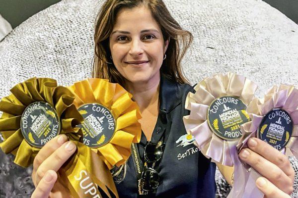 Vanessa Alcólea, da Pardinho Artesanal: conquistou 4 medalhas no evento – @pardinhoartesanal/Instagram