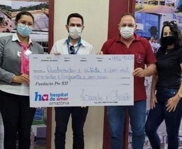 O cheque da doação mais recente do vigia - Foto: arquivo pessoal
